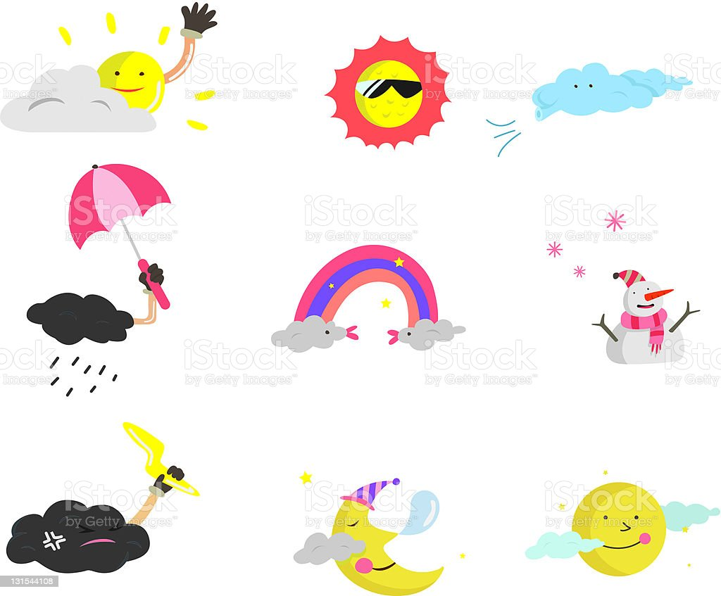 cartoon weather royalty-free stock vector art
