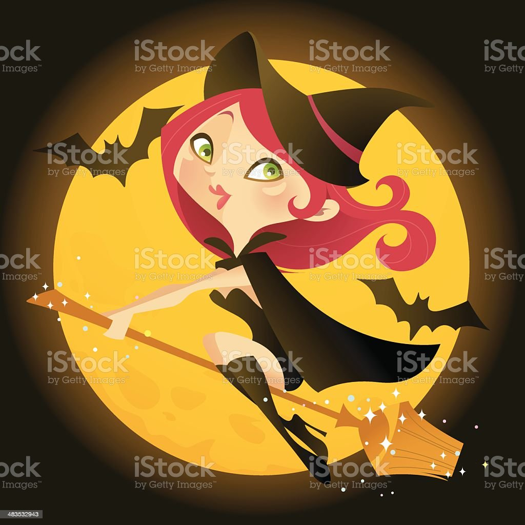 Cartoon Witch royalty-free stock vector art