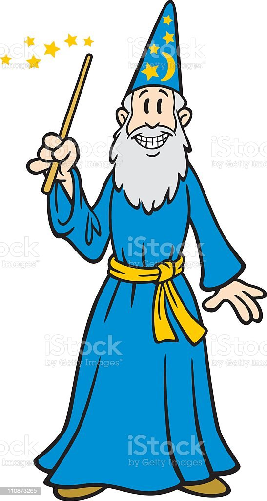 Cartoon Wizard royalty-free stock vector art