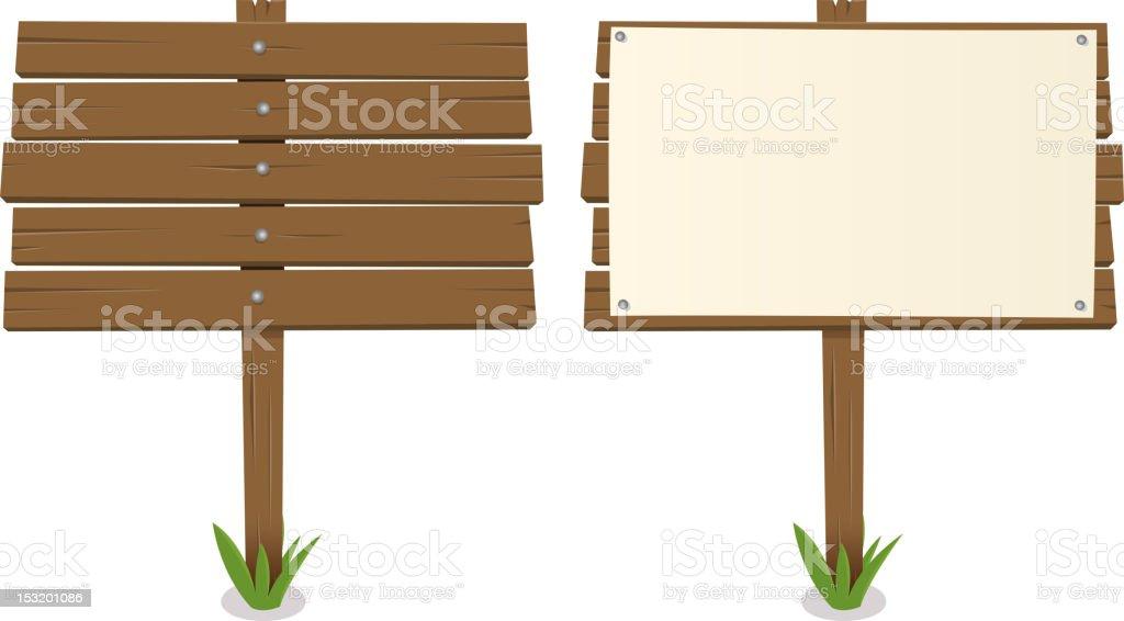 Cartoon Wood Board vector art illustration