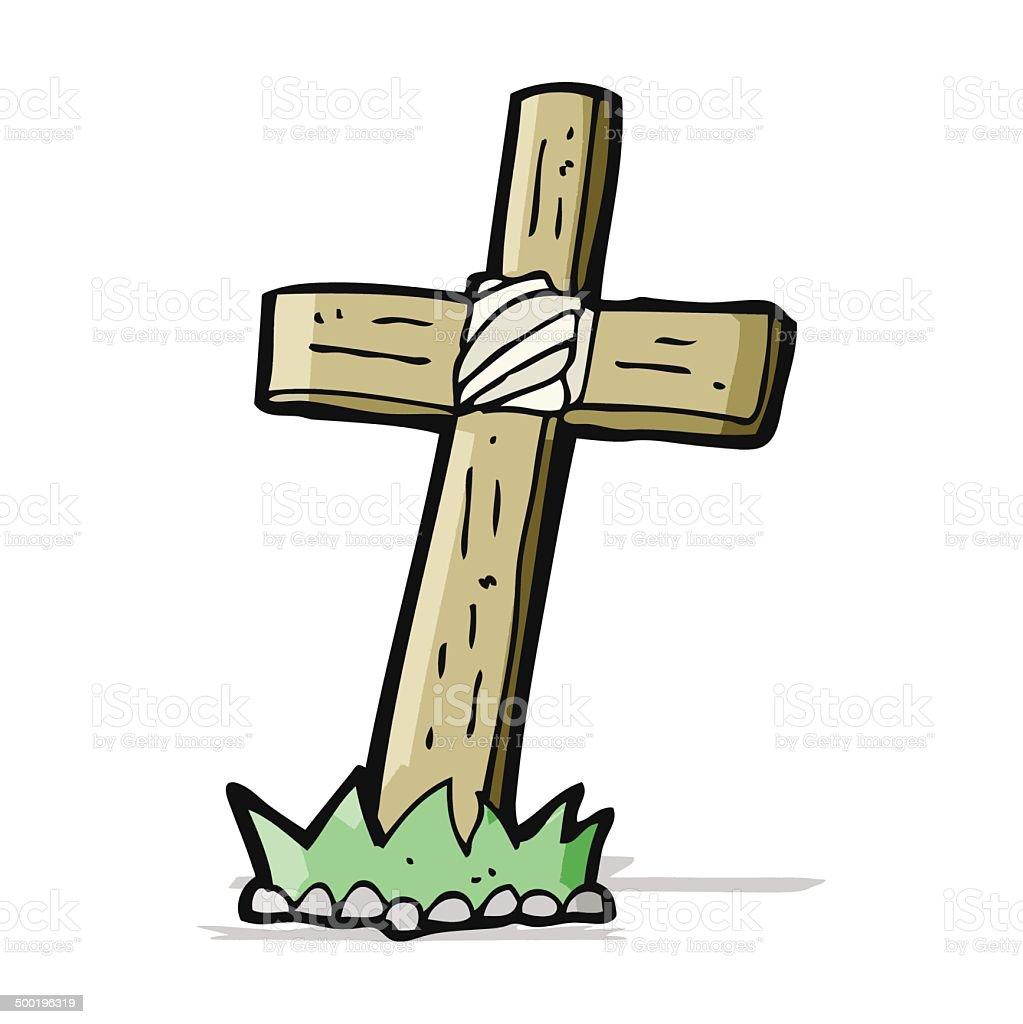 Как рисовать могильный крест