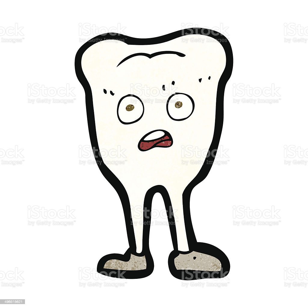 cartoon yellowing  tooth royalty-free stock vector art
