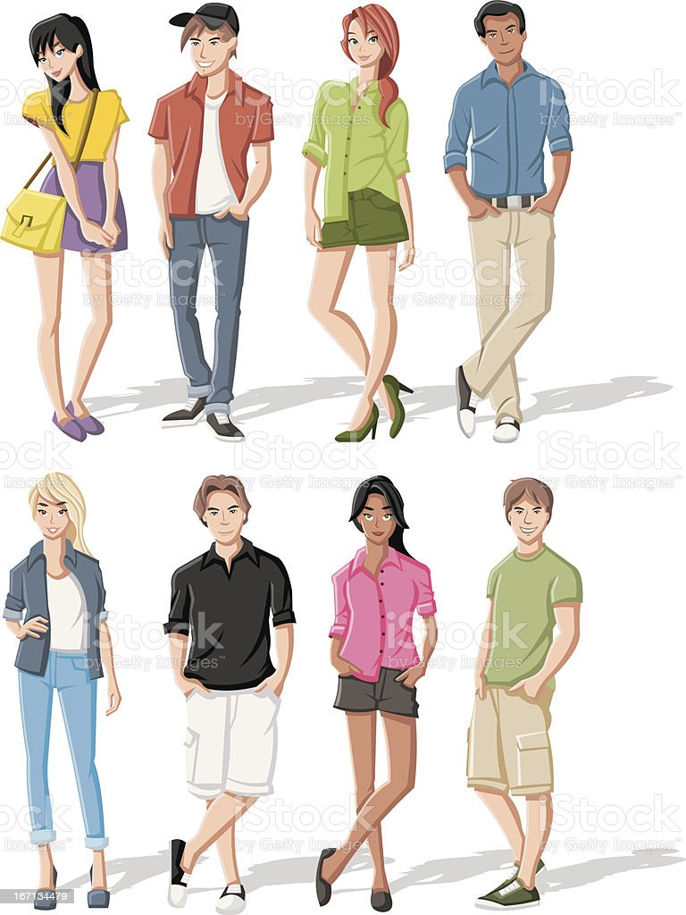 cartoon young people royalty-free stock vector art