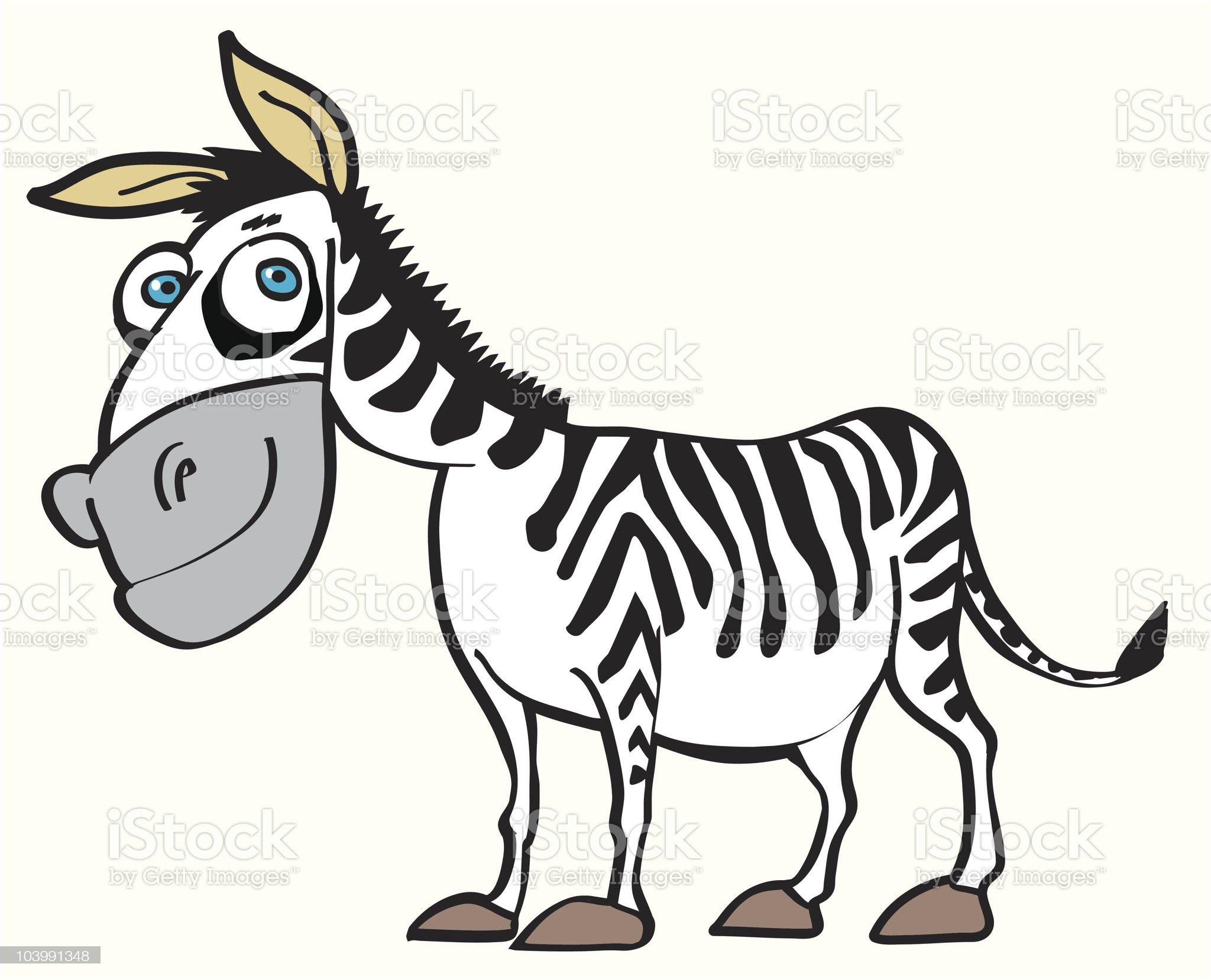 cartoon zebra royalty-free stock vector art