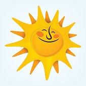 Cartoonish sun