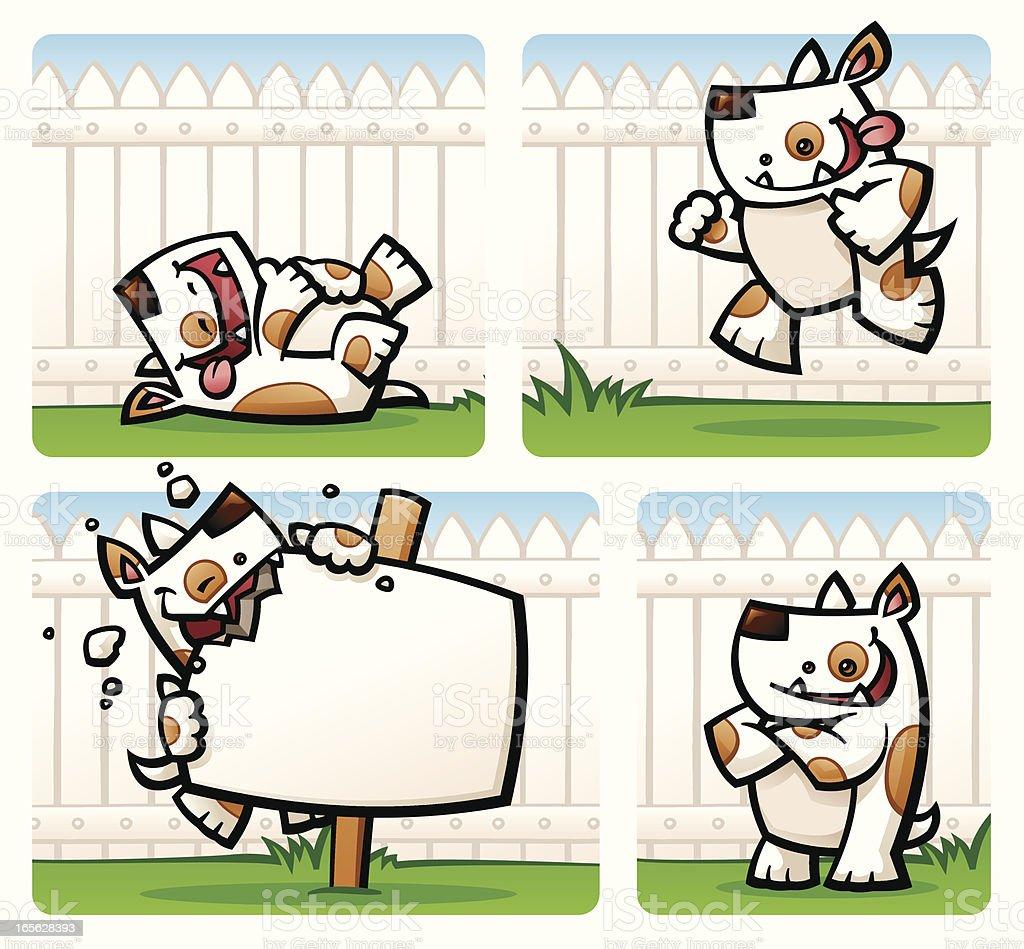 Cartoony Dogs royalty-free stock vector art