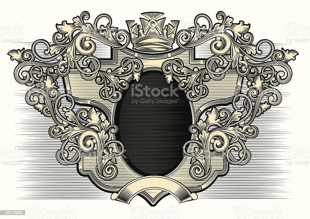 Cartouche royalty-free stock vector art