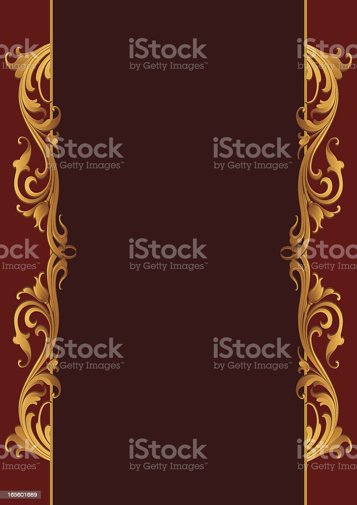 Carved Gold Side Scrolls royalty-free stock vector art