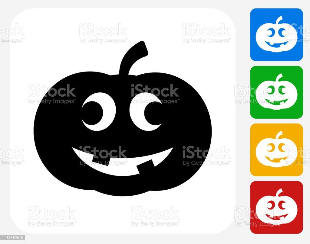 Carved Halloween Pumpkin Icon Flat Graphic Design vector art illustration