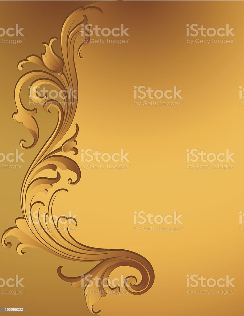 Carved Vertical Scroll Page royalty-free stock vector art
