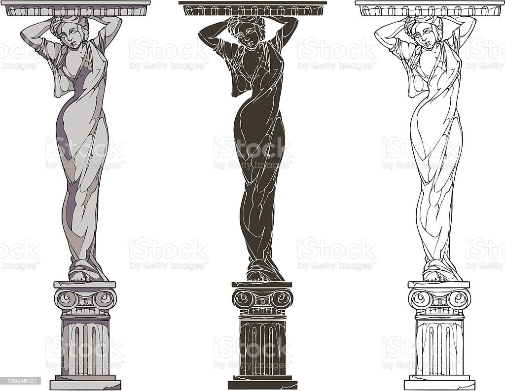 caryatid vector art illustration