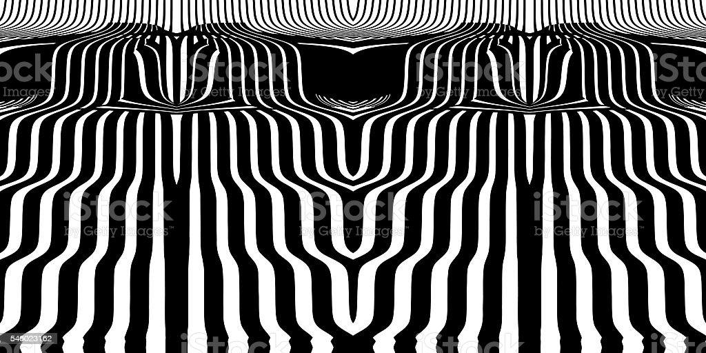 Cascading waterfall seamless pattern vector art illustration
