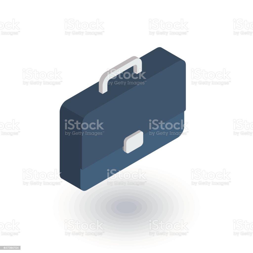case briefcase career symbol portfolio isometric flat icon 3d 1 credit