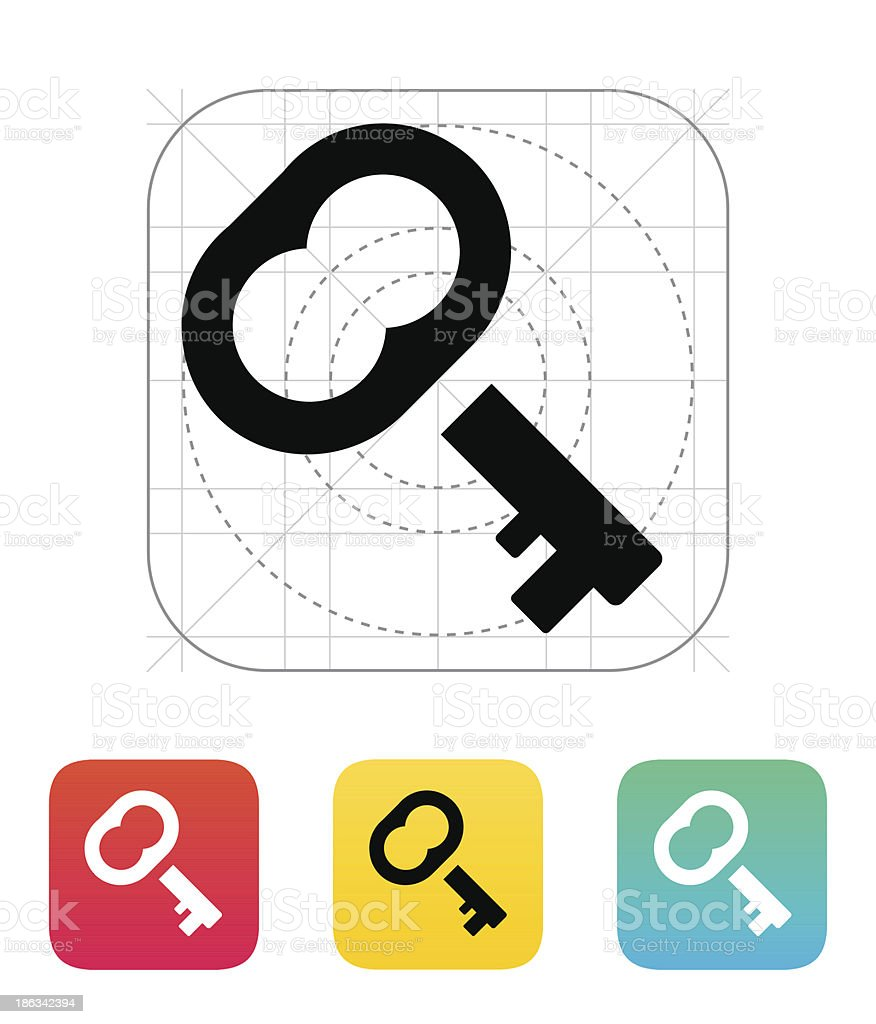 Case key icon. royalty-free stock vector art