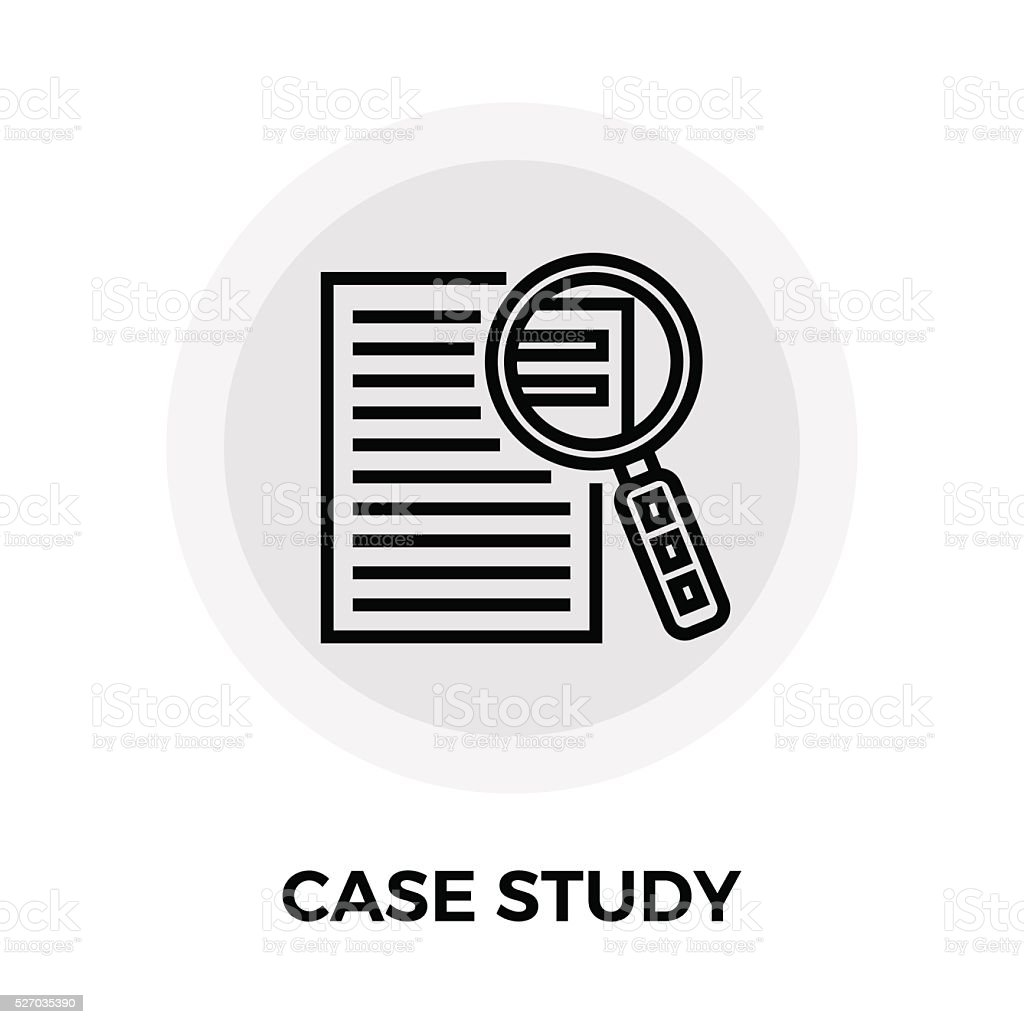 Case Study Icon vector art illustration