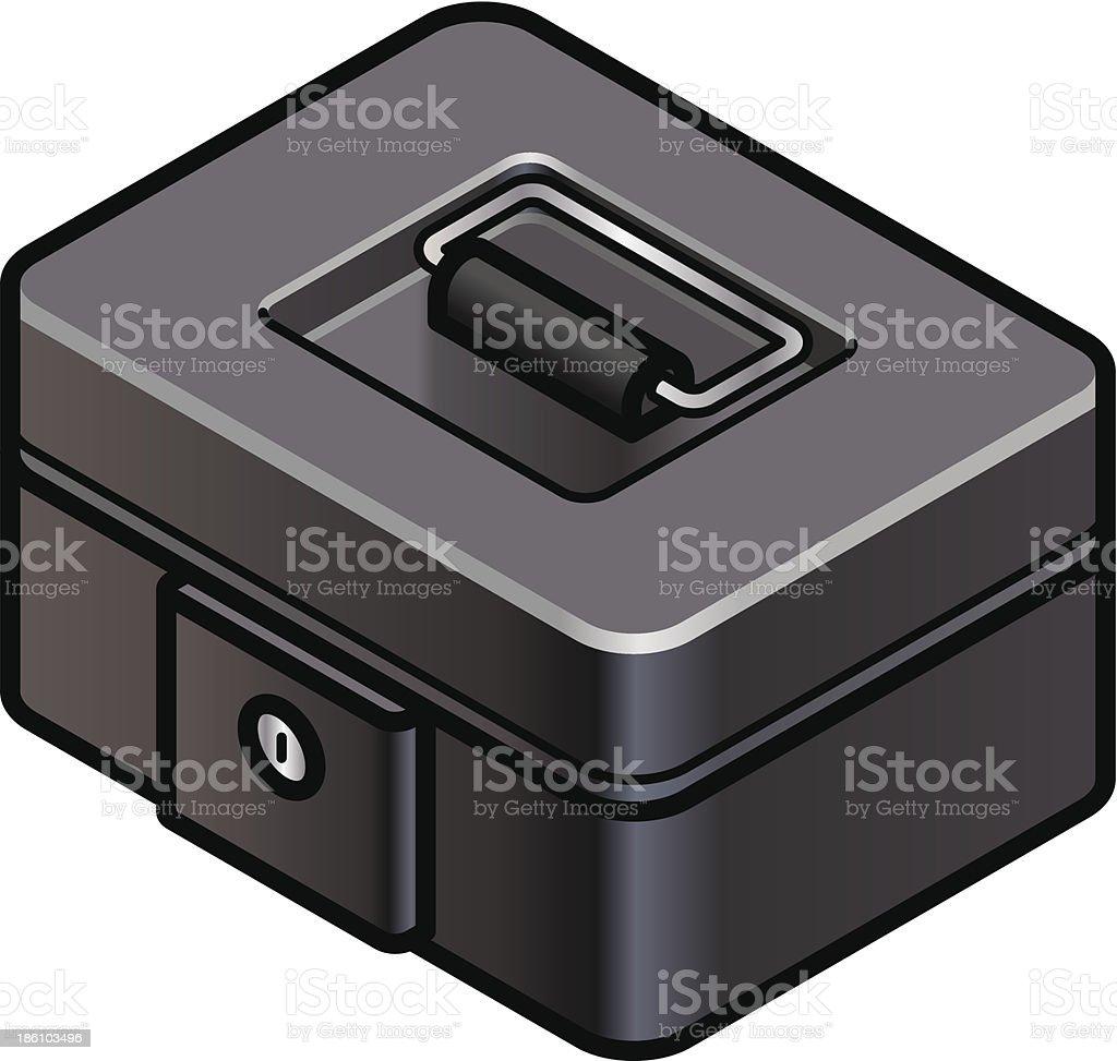 Cash Box vector art illustration