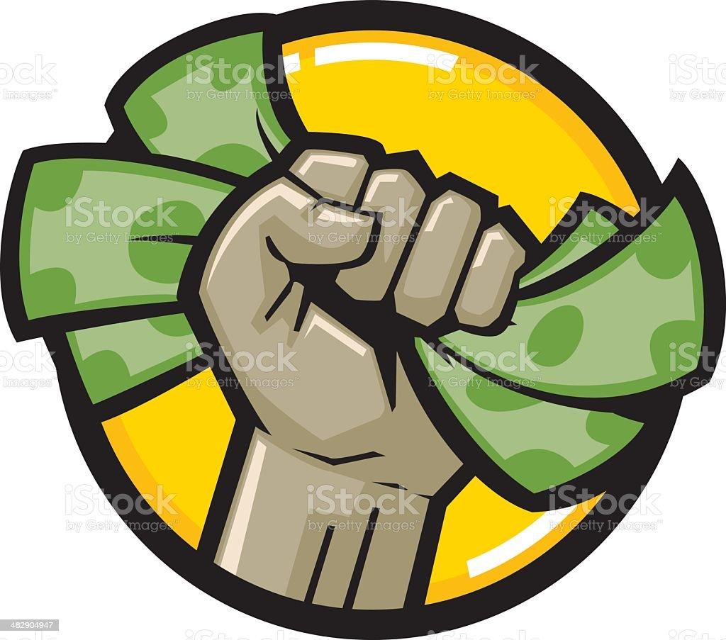 cash fist vector art illustration