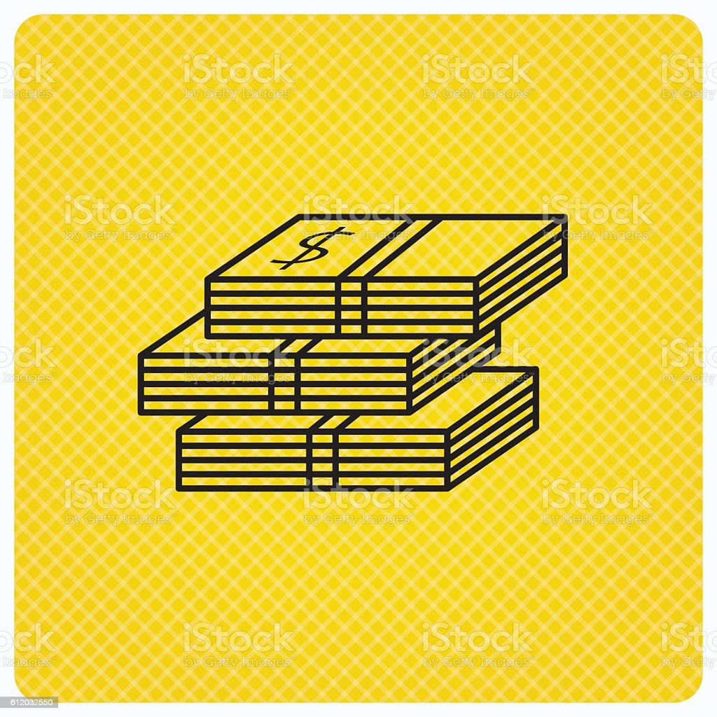 Cash icon. Dollar money sign. vector art illustration