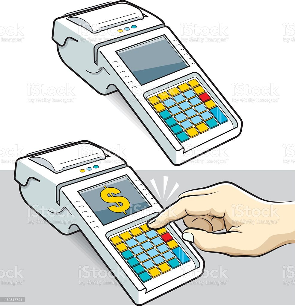 cash register and user royalty-free stock vector art
