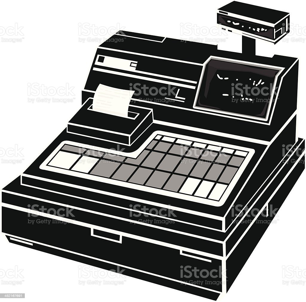 Cash Register Icon royalty-free stock vector art