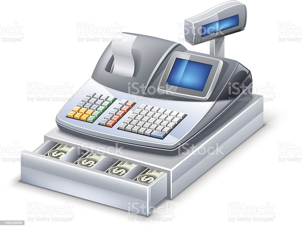 Cash register vector art illustration
