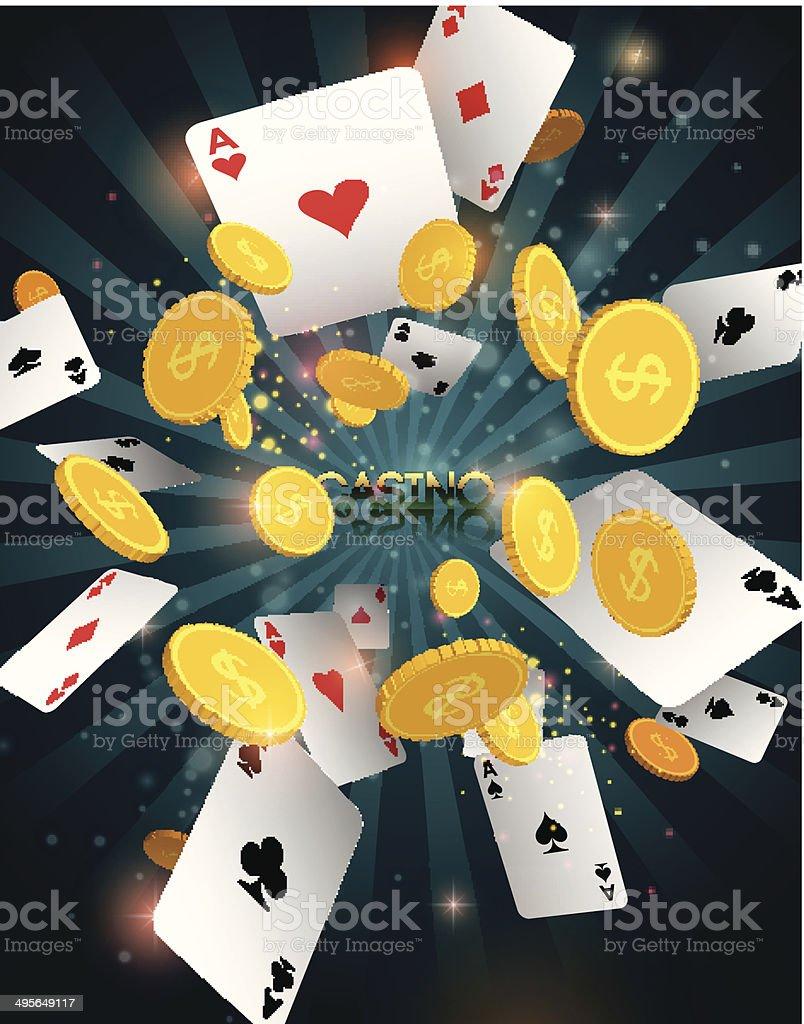 Casino abstract background vector art illustration