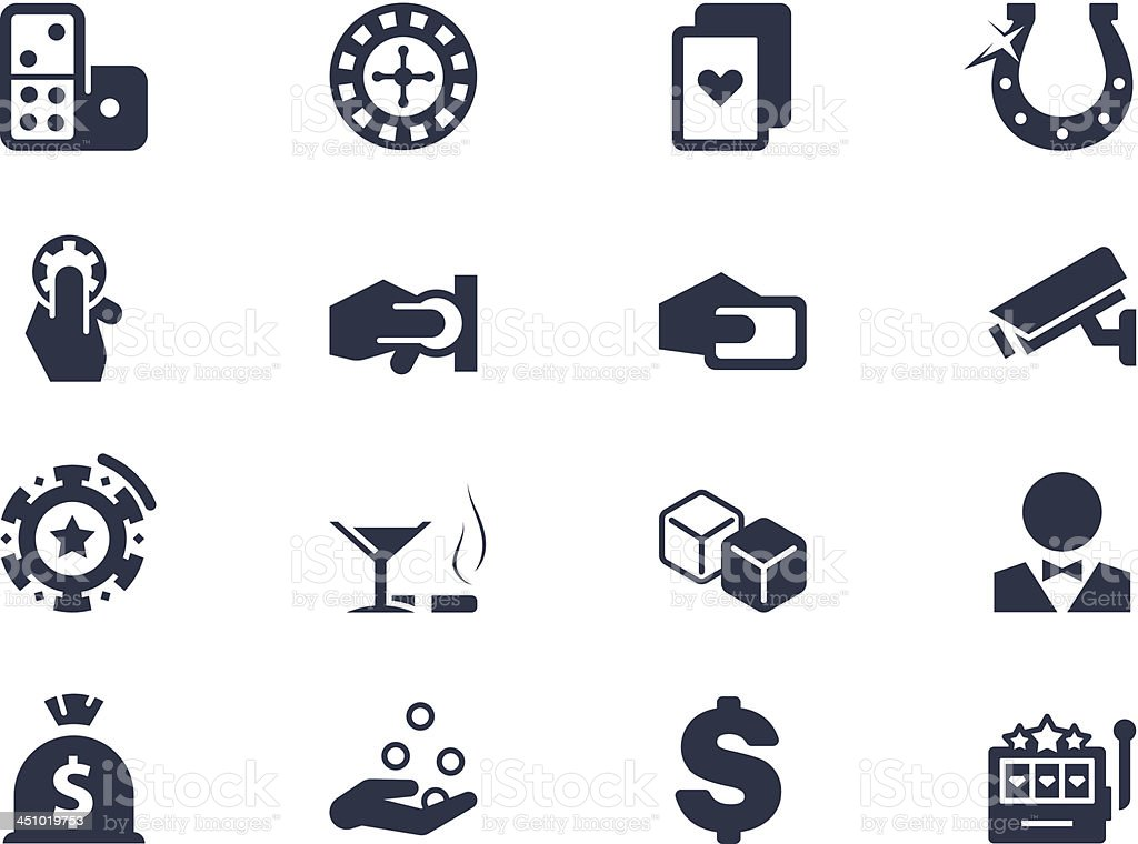 Casino and gambling icons royalty-free stock vector art