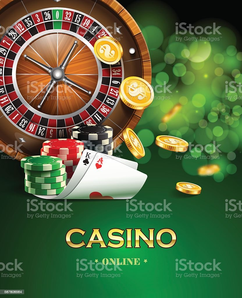 Casino background. vector art illustration