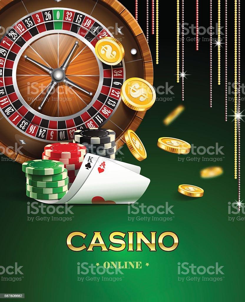 Casino background. vector art illustration