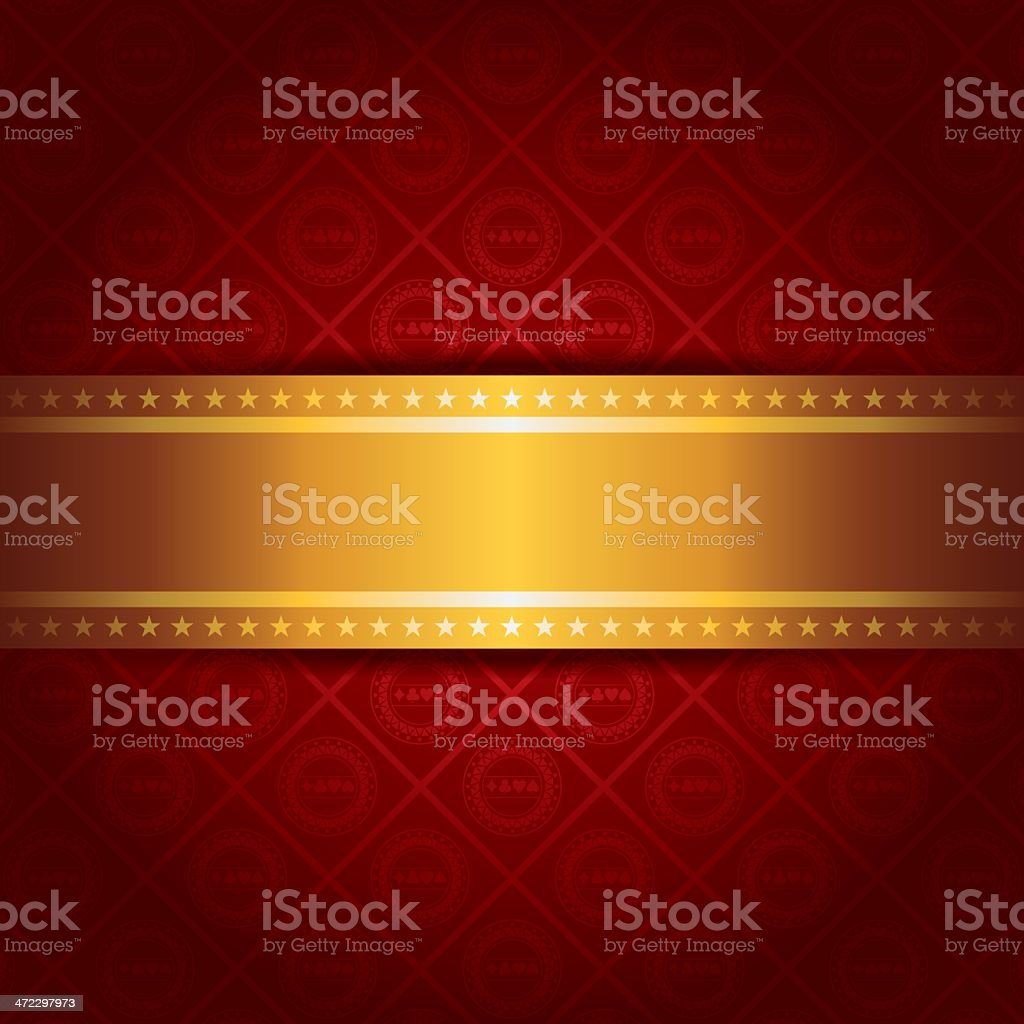 Casino Background with golden stripe vector art illustration