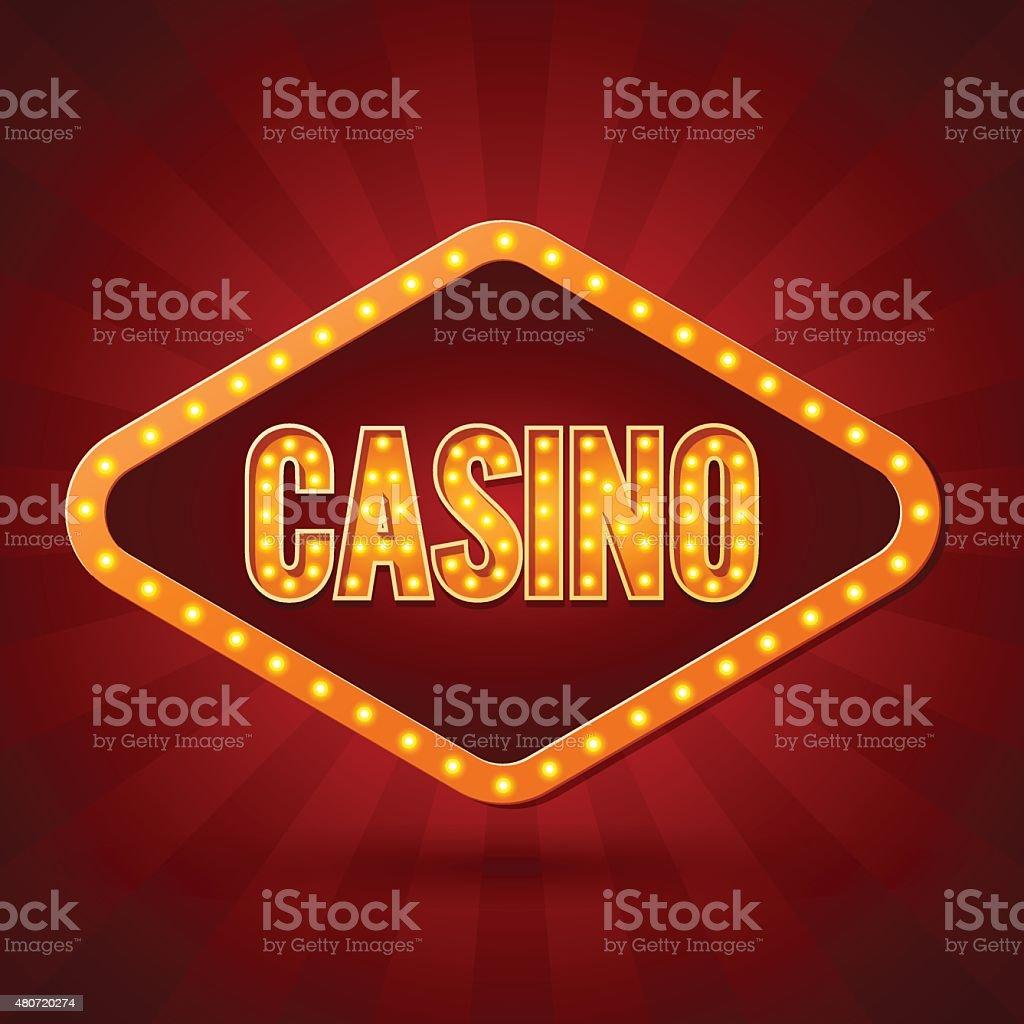 Casino Banner lighting. Vector illustration vector art illustration
