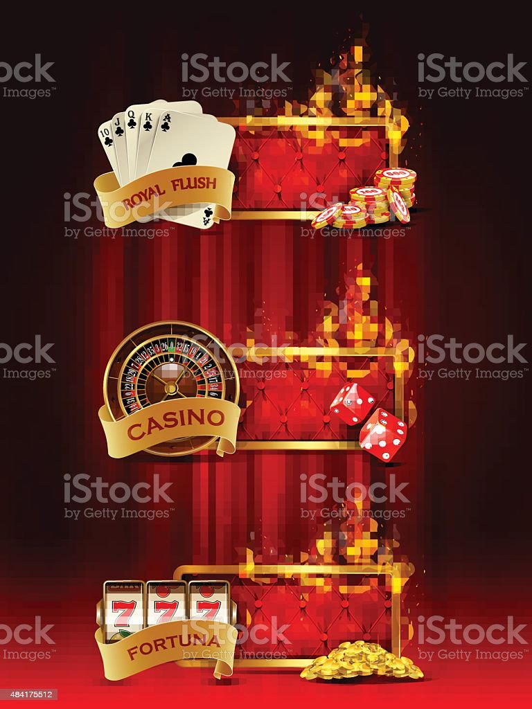 Casino banners set. vector art illustration