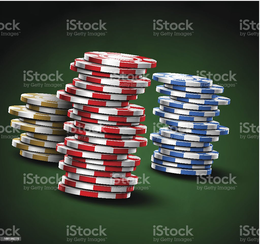 Casino chips royalty-free stock vector art