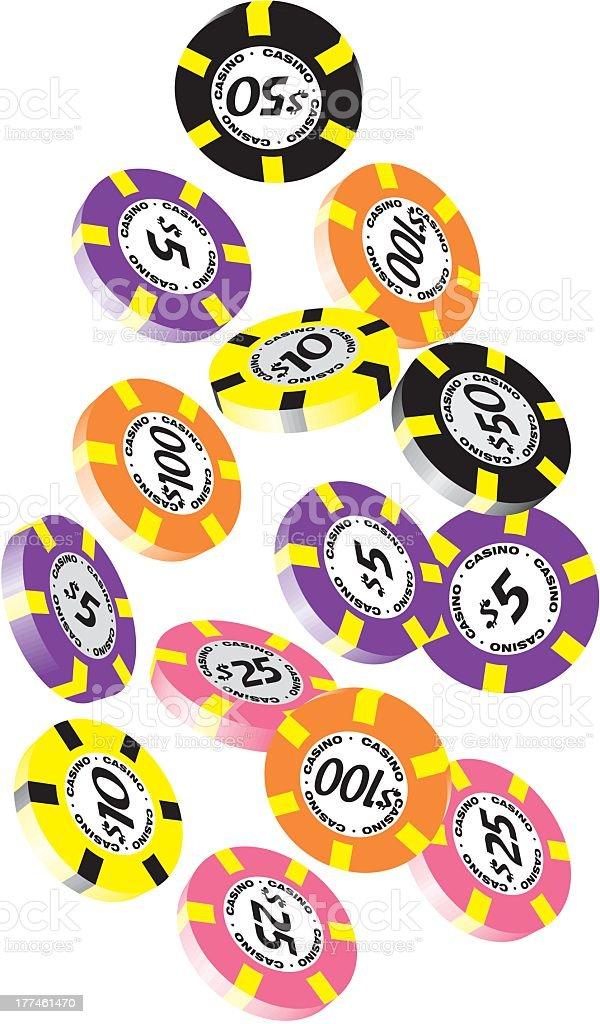 Casino Chips royalty-free stock vector art