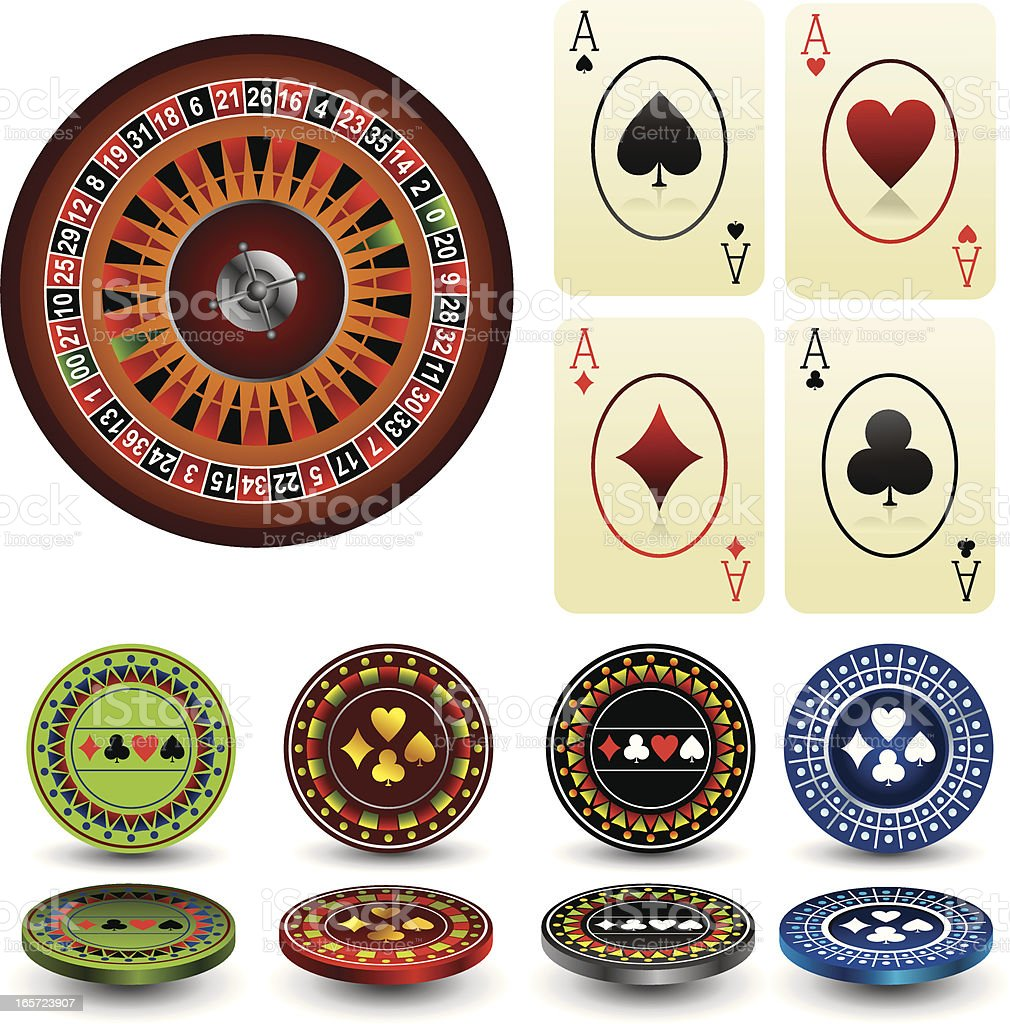 casino collection royalty-free stock vector art