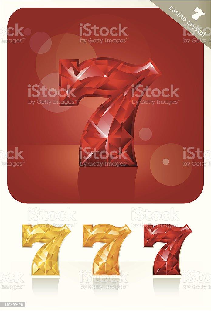 Casino Crystal (lucky 7) royalty-free stock vector art