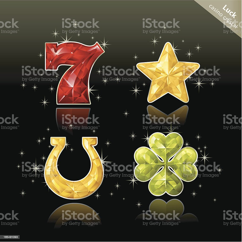 Casino Crystal (Lucky) vector art illustration
