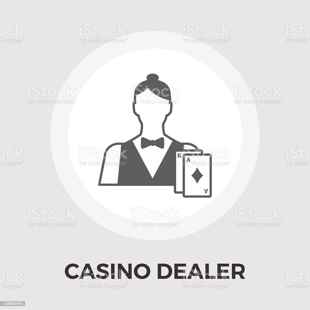 Casino Dealer Flat Icon vector art illustration