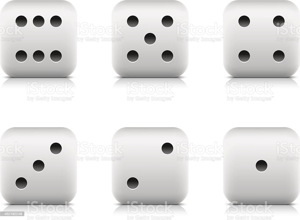 Casino dice web icon black pictogram rounded cube vector art illustration