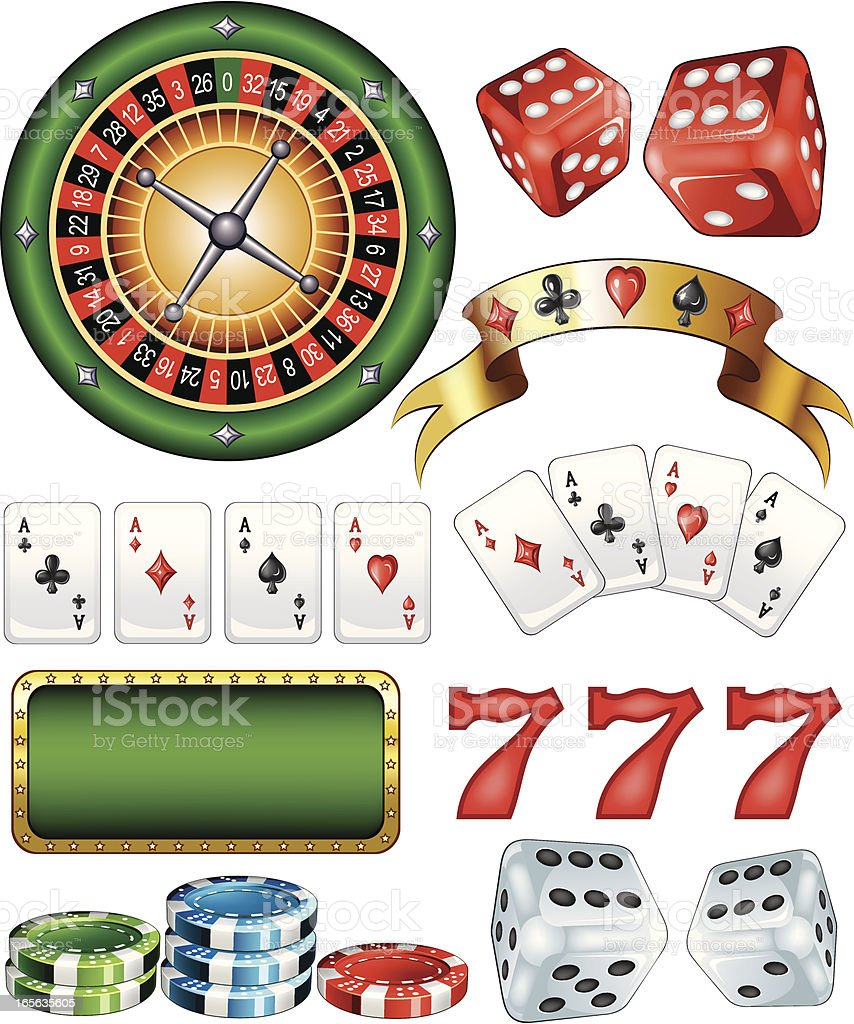 Casino Elements royalty-free stock vector art