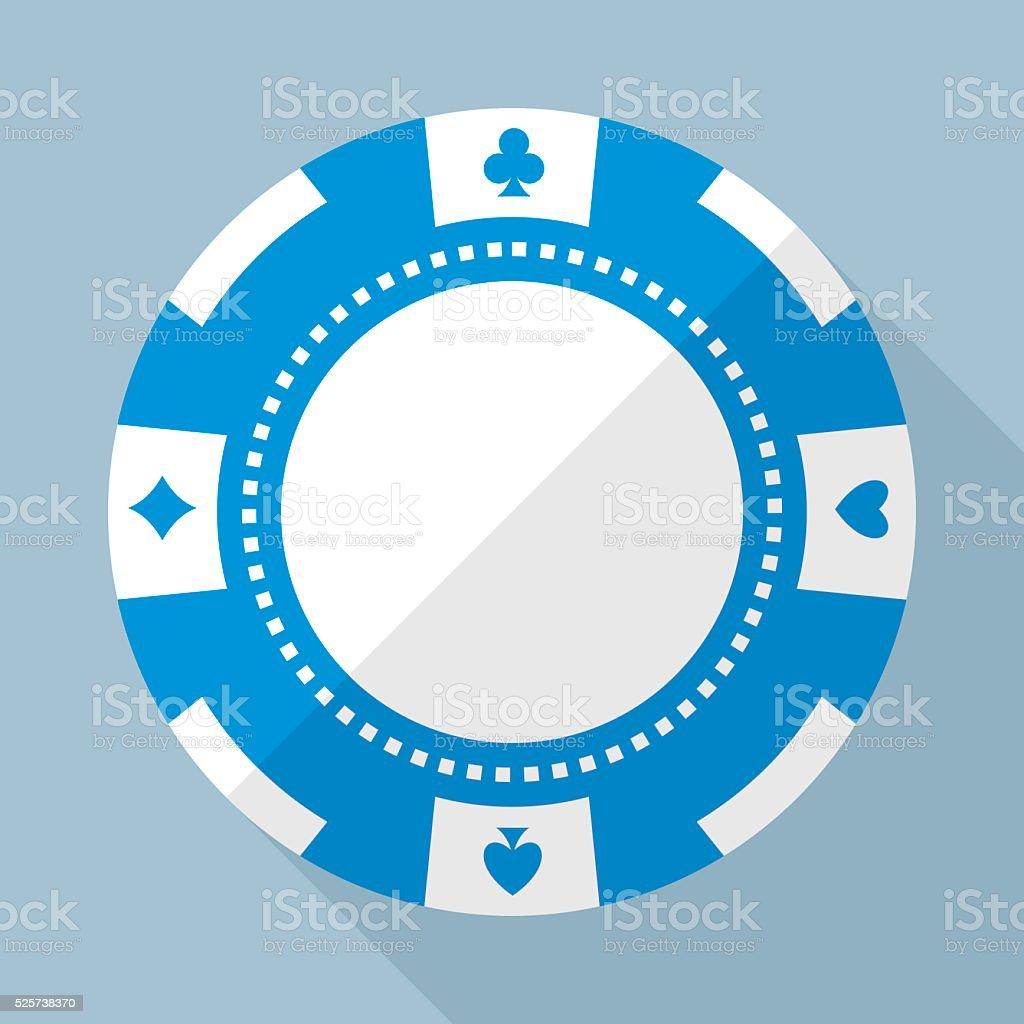 Casino gambling chip vector flat icon vector art illustration
