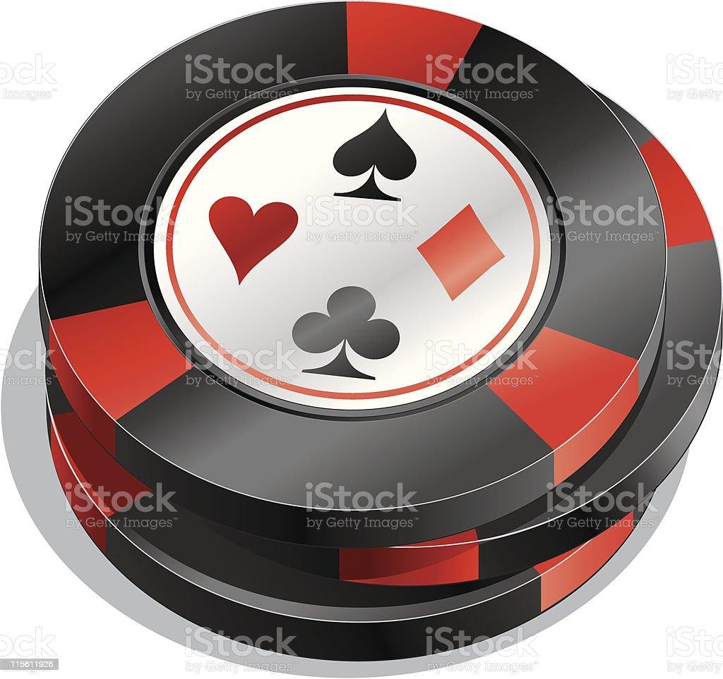 Casino Gambling Chips royalty-free stock vector art