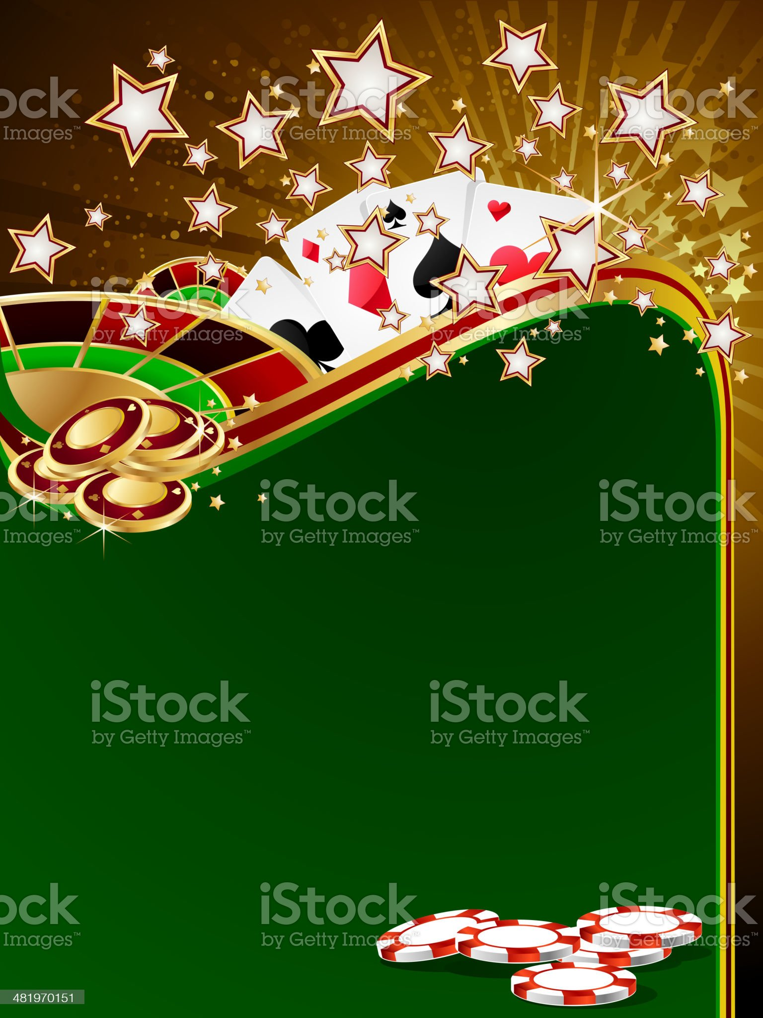 Casino Games Background royalty-free stock vector art