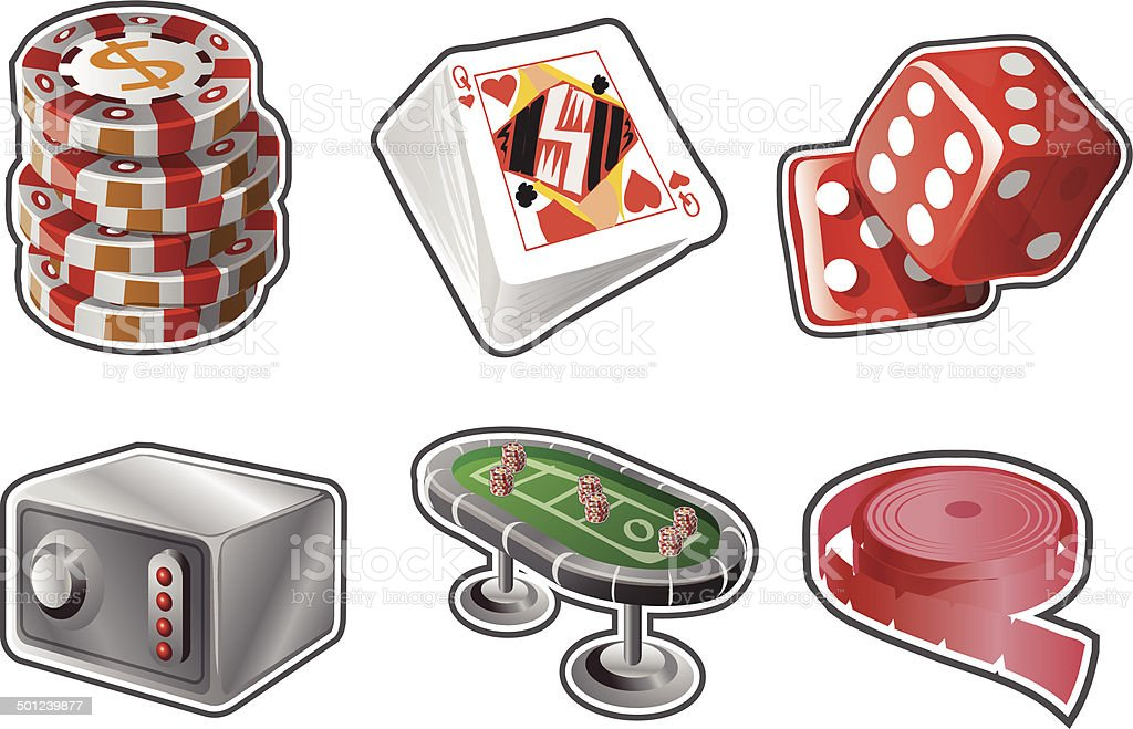 Casino Graphics vector art illustration
