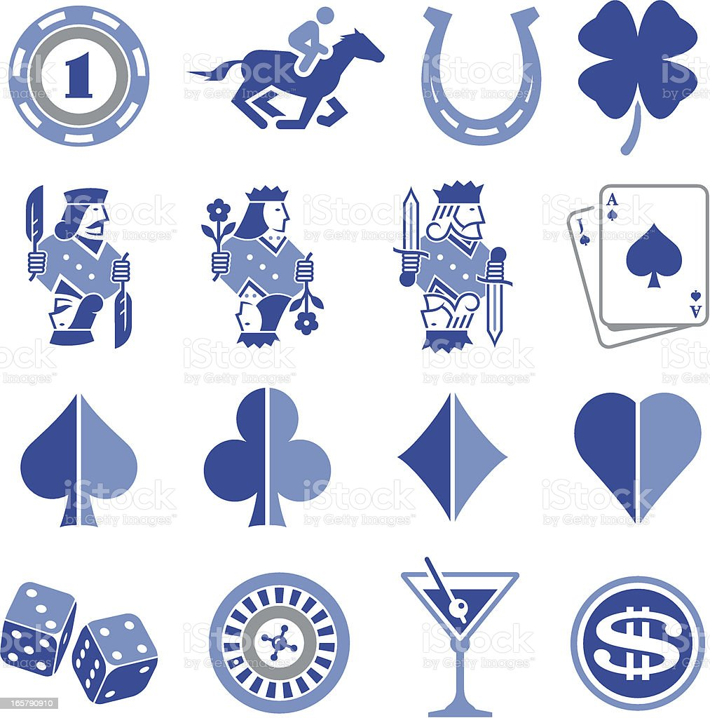 Casino Icons - Pro Series vector art illustration