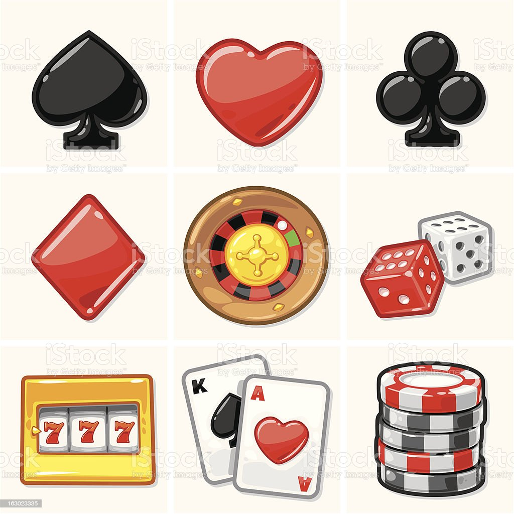 Casino Icons - Soft Collection vector art illustration