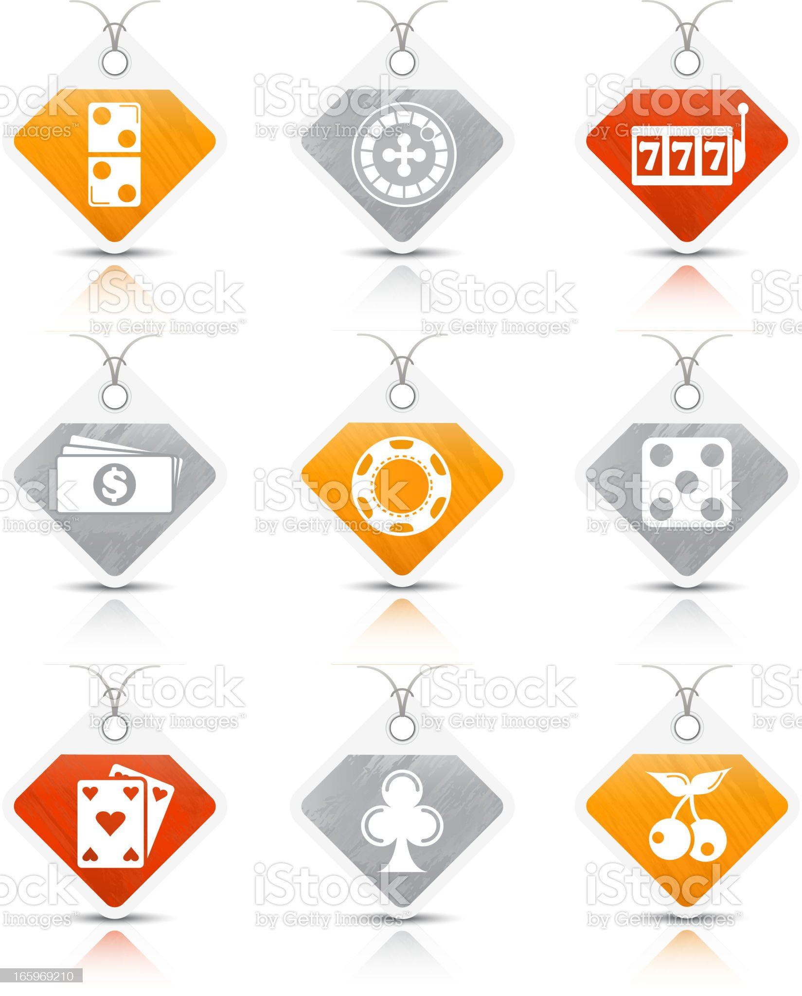 Casino icons royalty-free stock vector art