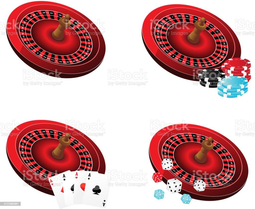 Casino icons royalty-free stock vector art