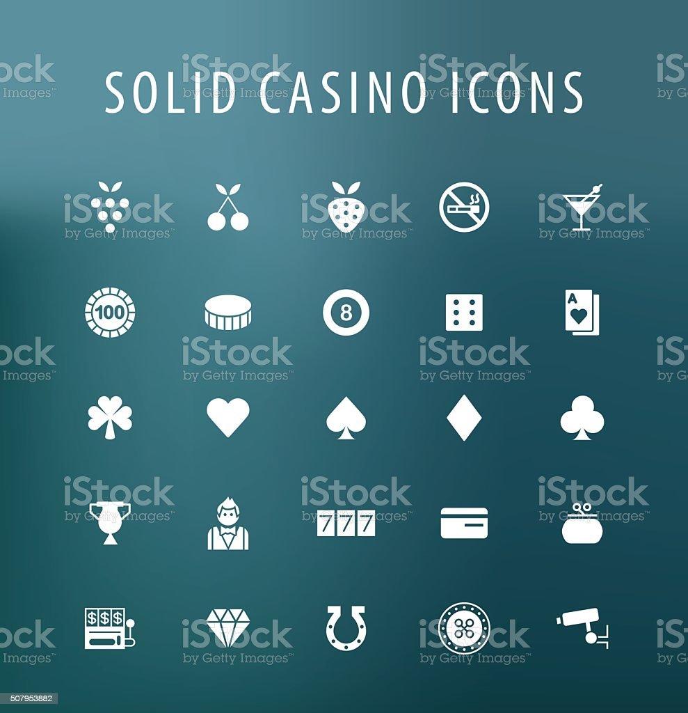 Casino Icons. vector art illustration
