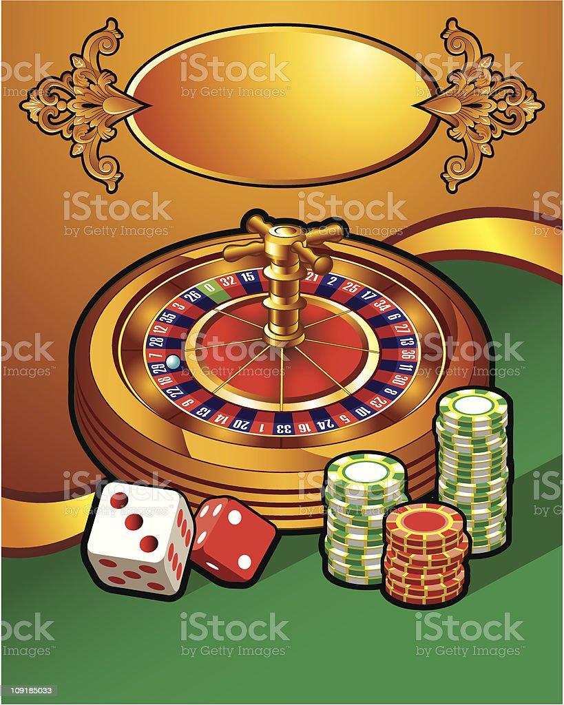 Casino illustration royalty-free stock vector art